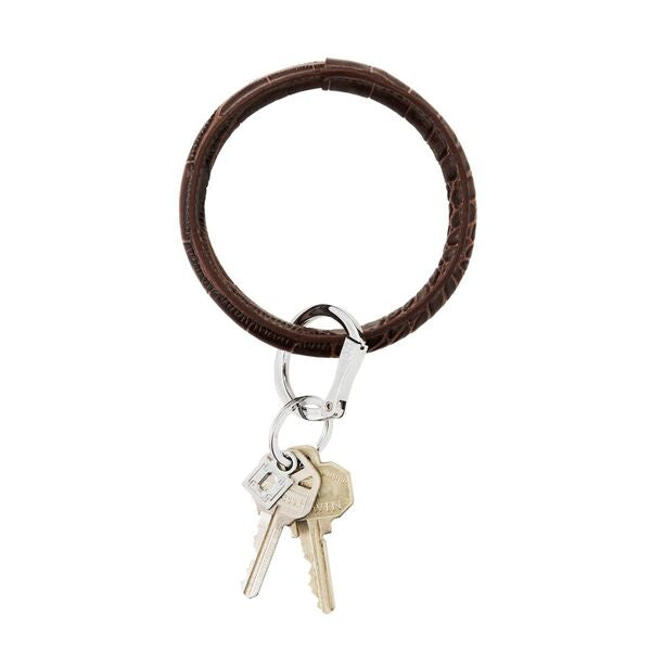 Leather Big O Key Ring - Fall Color Variety
