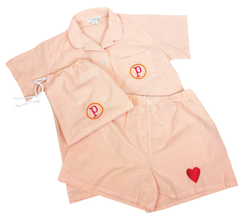Orange PJ Set