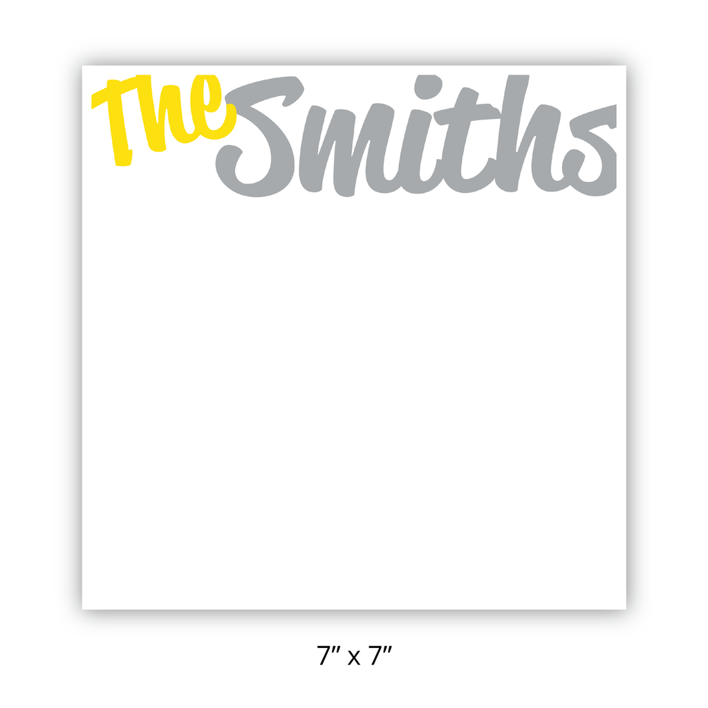 "Personalized ""The Smith's"" Chunky Pad"