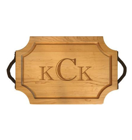 Scalloped Personalized Cutting Board - (Maple) 18 inch