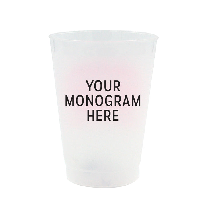 Personalized Frost Flex Cups - Monogram/Style