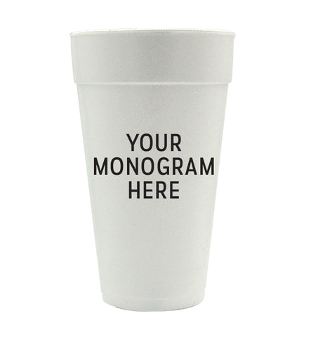 Personalized Styro Cups - Monogram/Style