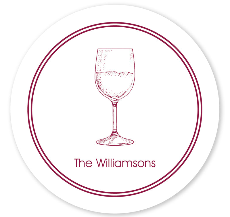 Personalized Coasters - Wine Glass