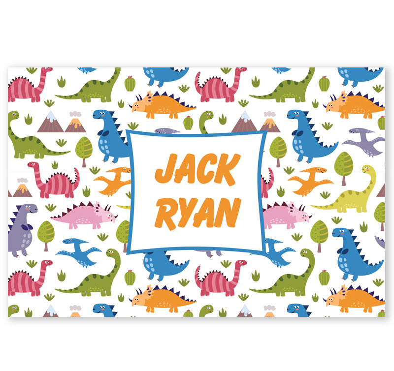 Personalized Kids Note Cards - Set of 10 - Dinosaurs