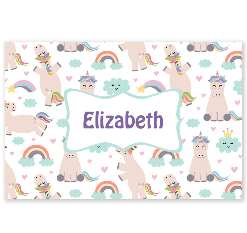 Personalized Kids Note Cards - Set of 10 - Unicorns