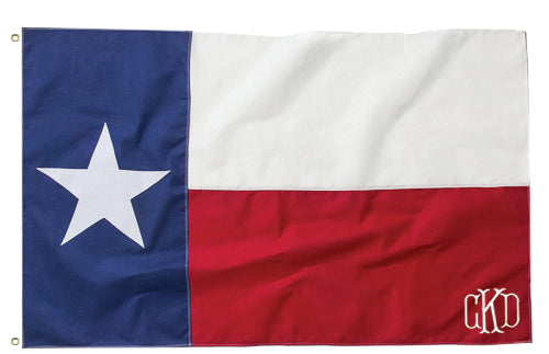 Personalized Texas Flag