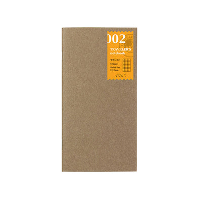 Traveler's Notebook Passport Size 002 Grid - Mimoto Japanese Homewares & Design