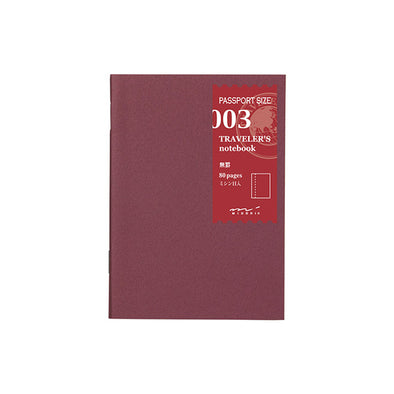 Traveler's Notebook Passport Size 003 Plain Pages