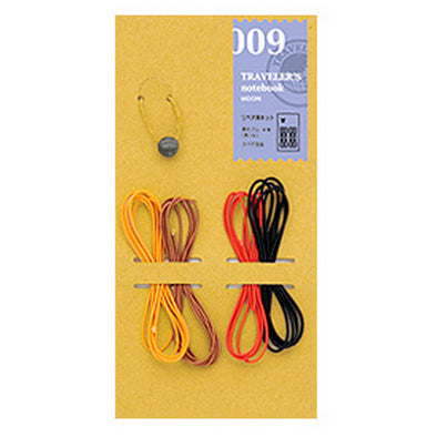 Traveler's Notebook 009 Large and Passport size Elastic Cord Kit - Set of 4