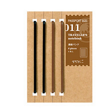 Traveler's Notebook 011 Large Rubber Bands Set of 4 - Mimoto Japanese Homewares & Design