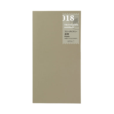 Traveler's Notebook 018 Large Free diary weekly - Mimoto Japanese Homewares & Design
