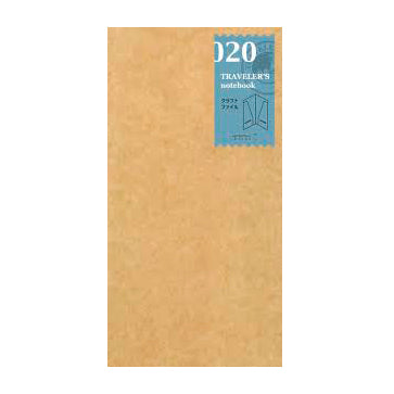 Traveler's Notebook 020  Kraft Folder - Mimoto Japanese Homewares & Design