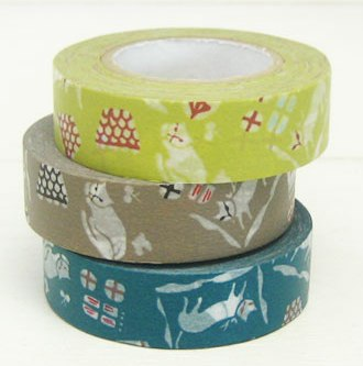 Tape 3 Rolls Cats - Mimoto Japanese Homewares & Design