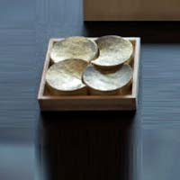 Futagami YOTSUDUKI Brass Chopstick Rest (Four-Moons) - Mimoto Japanese Homewares & Design