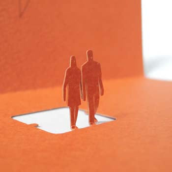 1/100 Series Architectural Model Greeting Card - Together