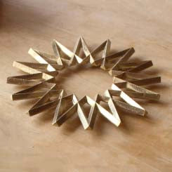 Futagami GINGA Brass Trivet - Galaxy