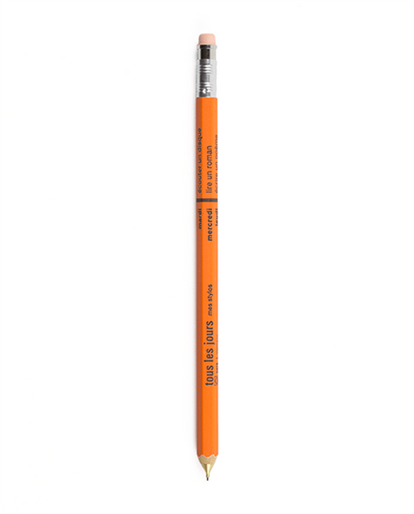 Days Mechanical Pencil in Orange - Mimoto Japanese Homewares & Design