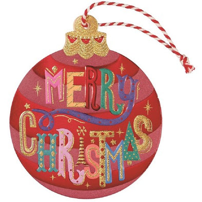 Christmas Ornament Die-Cut Card