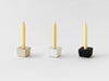Rice Wax Candle Gift Set with a black candle stand