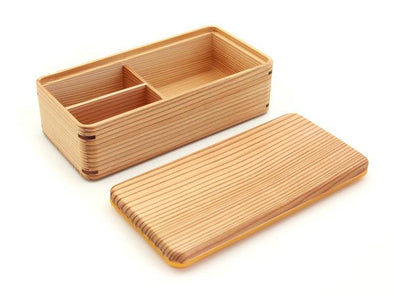mWood Lunch Box Bento Single Brown