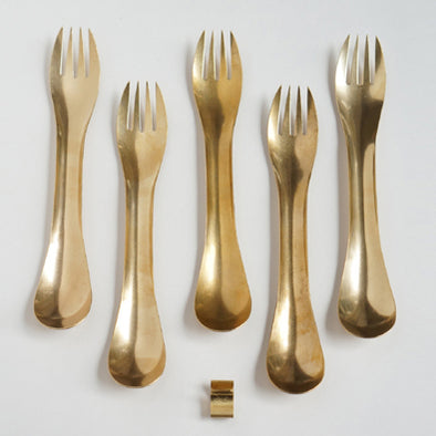 Spork Set Brass - Mimoto Japanese Homewares & Design