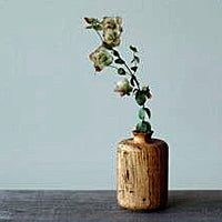 Wormy Wood Flower Vase Tube - Mimoto Japanese Homewares & Design