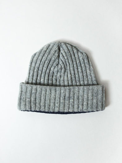 Ribbed Beanie Grey - Mimoto Japanese Homewares & Design