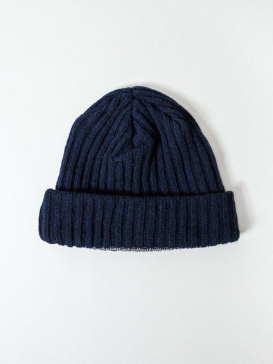 Ribbed Beanie Navy - Mimoto Japanese Homewares & Design