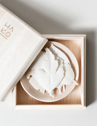 Ha Ko Leaf Japanese Incense - White