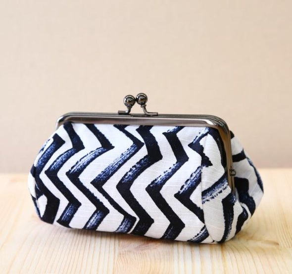Makeup Pouch or Purse (Small) Jigu Zagu design - Mimoto Japanese Homewares & Design
