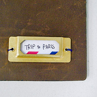 Traveler's Notebook Accessories Brass Label Plate - Set of 6 - Mimoto Japanese Homewares & Design