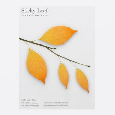 Sticky Leaf Birch Sticky Notes - Mimoto Japanese Homewares & Design