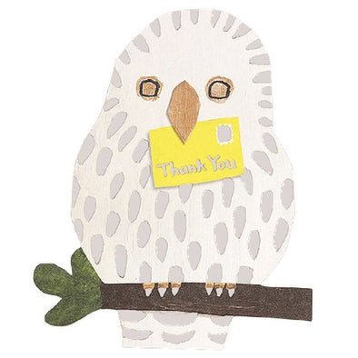 Mini Die Cut Card Owl Bird Card