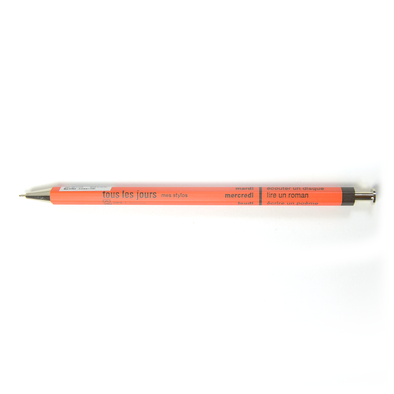 Days Ballpoint Pen in Orange - Mimoto Japanese Homewares & Design