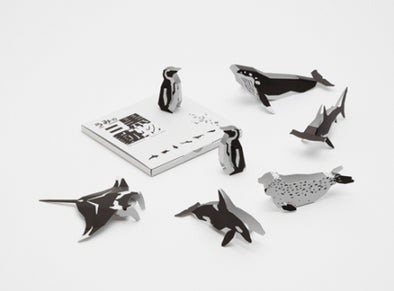 Three-dimensional Sea Animal Cards - Mimoto Japanese Homewares & Design