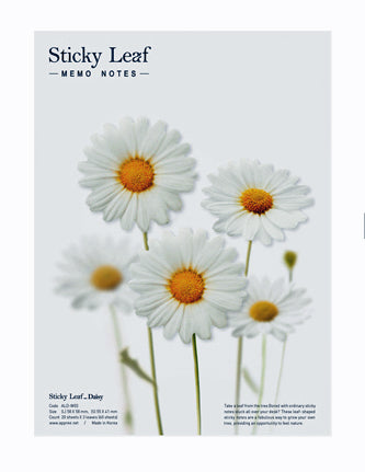Sticky Notes Daisies White