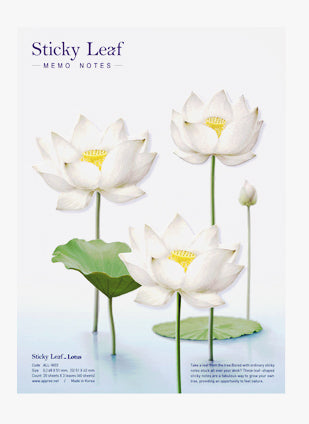 Sticky Notes Lotus Flowers White
