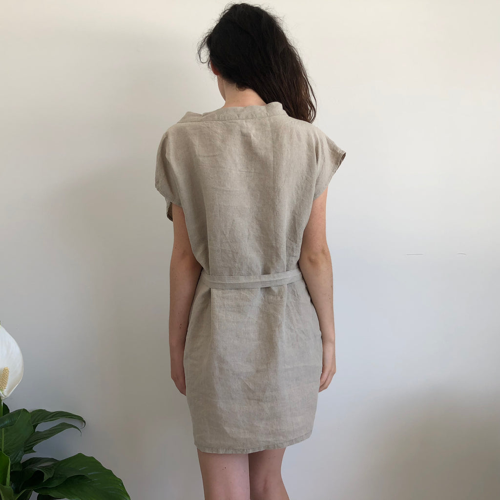 French Linen Brooch Tunic