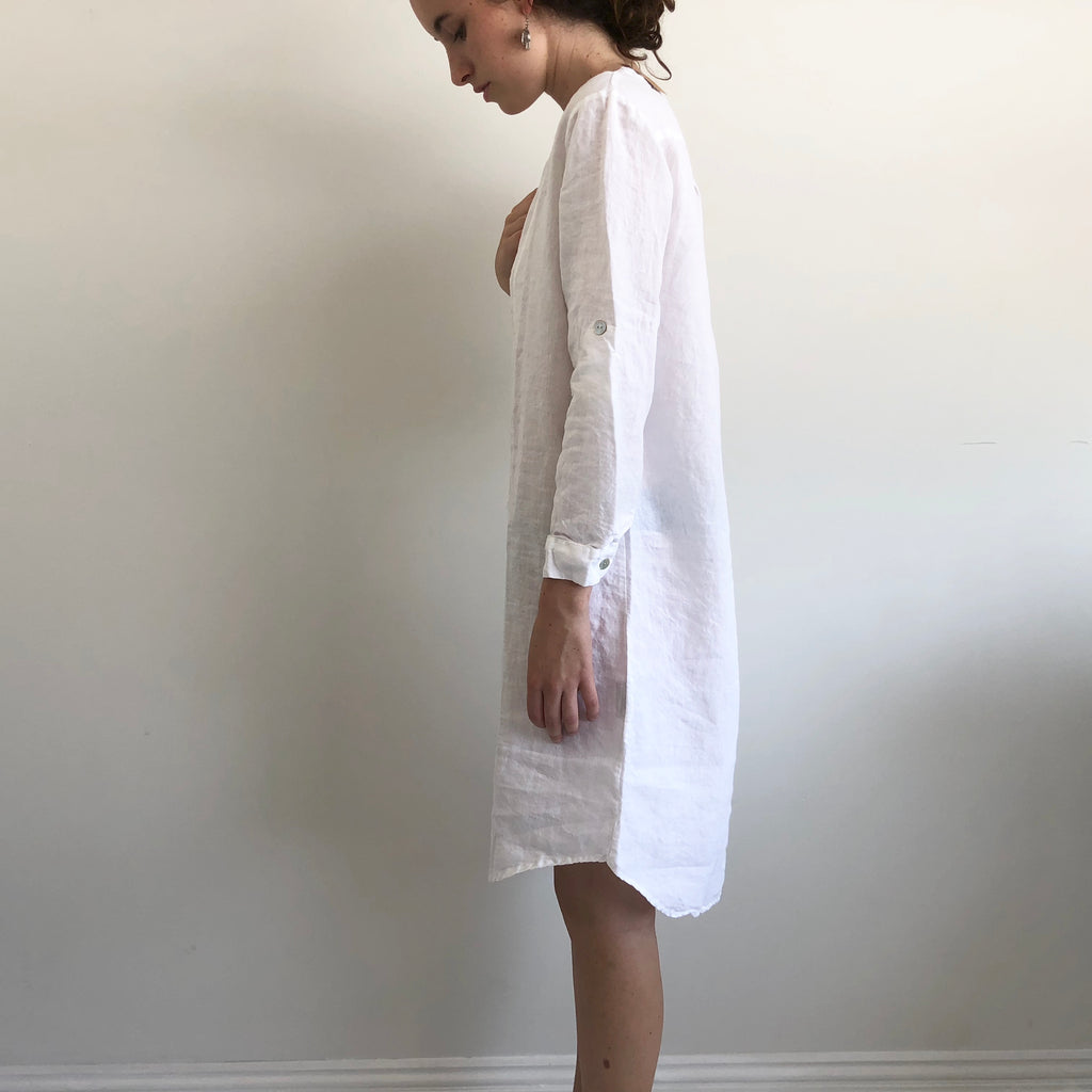 French Linen Shirt Dress