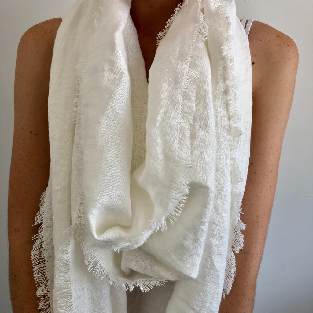 Rustic French Linen Scarf