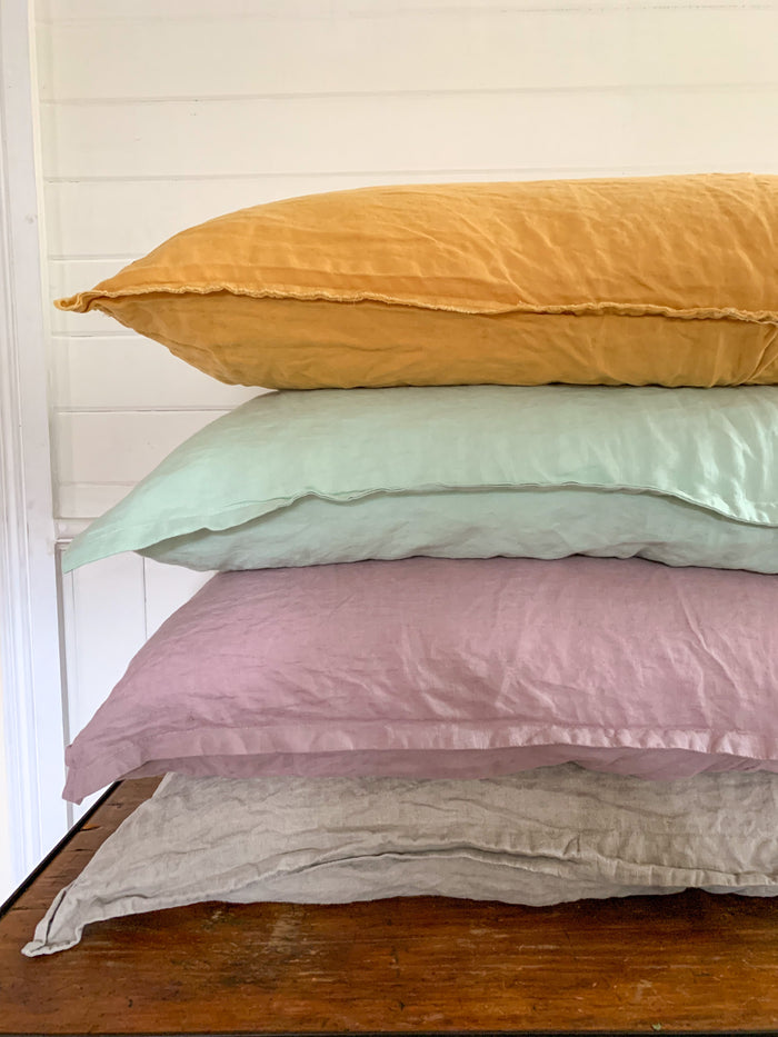 French Linen Pillowcase – Standard (Oxford Edge)