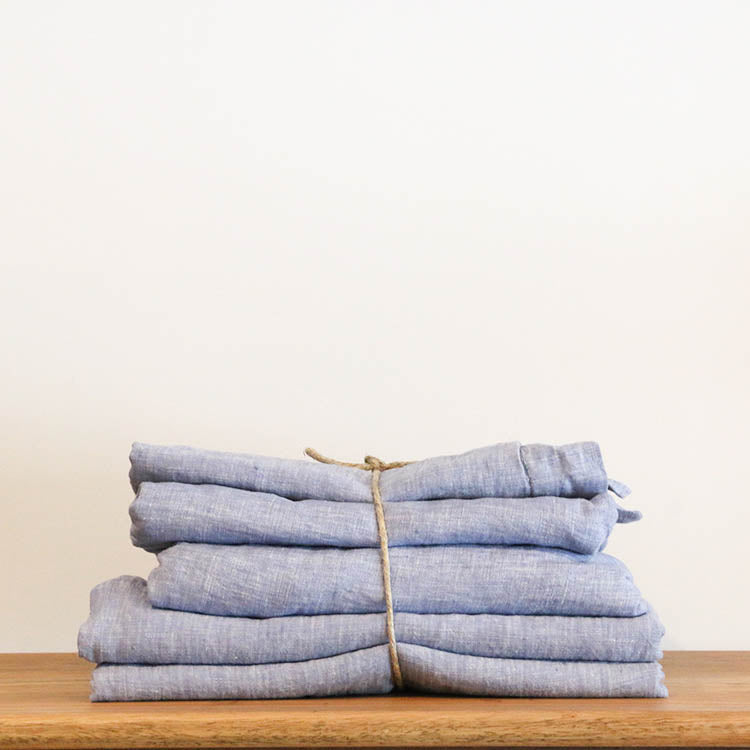 French Linen Bed Sheet Set (Queen/King/Single/Super)
