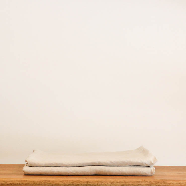 French Linen Pillow Case (Euro size 65 x65 cm) with Oxford edge