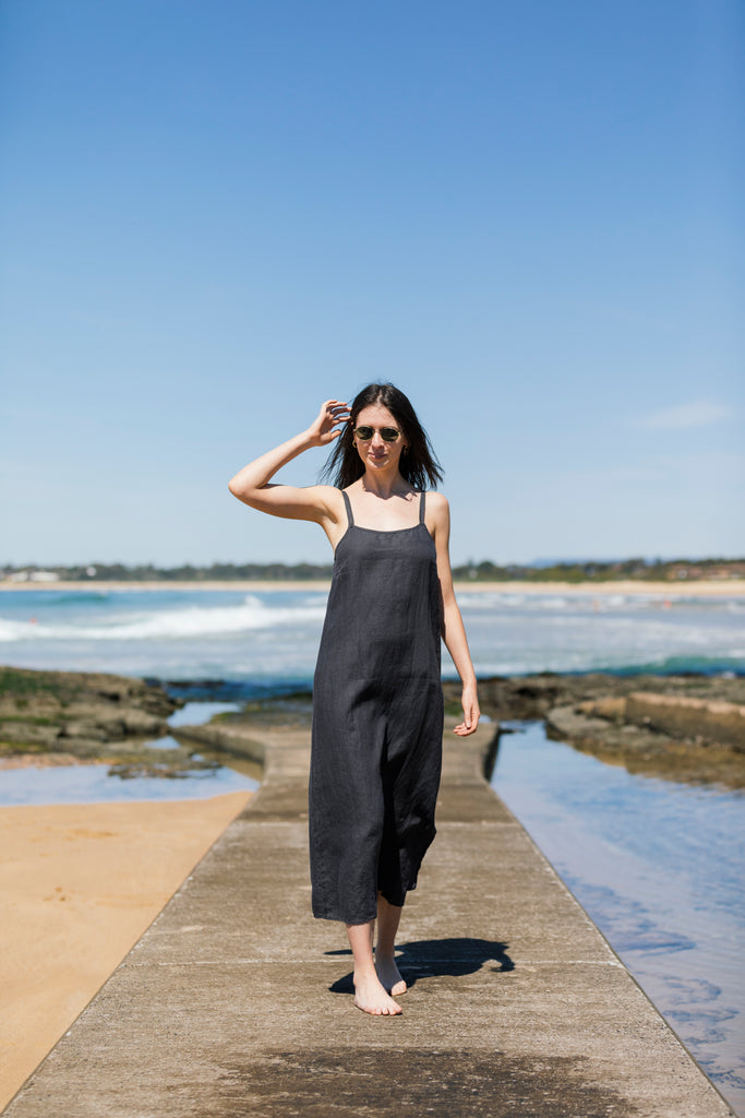 French Linen Long Slip Dress -  9 Colours