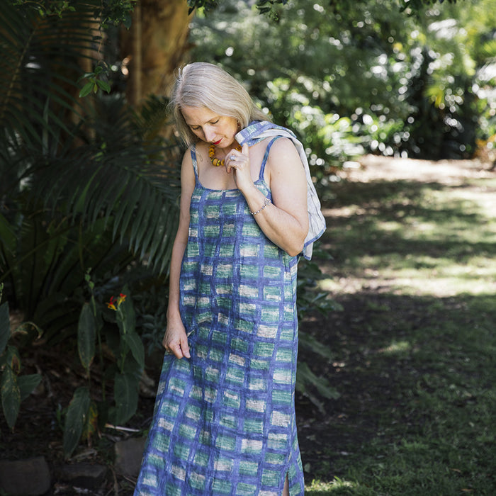 Maxi Slip Dress - Retro Check