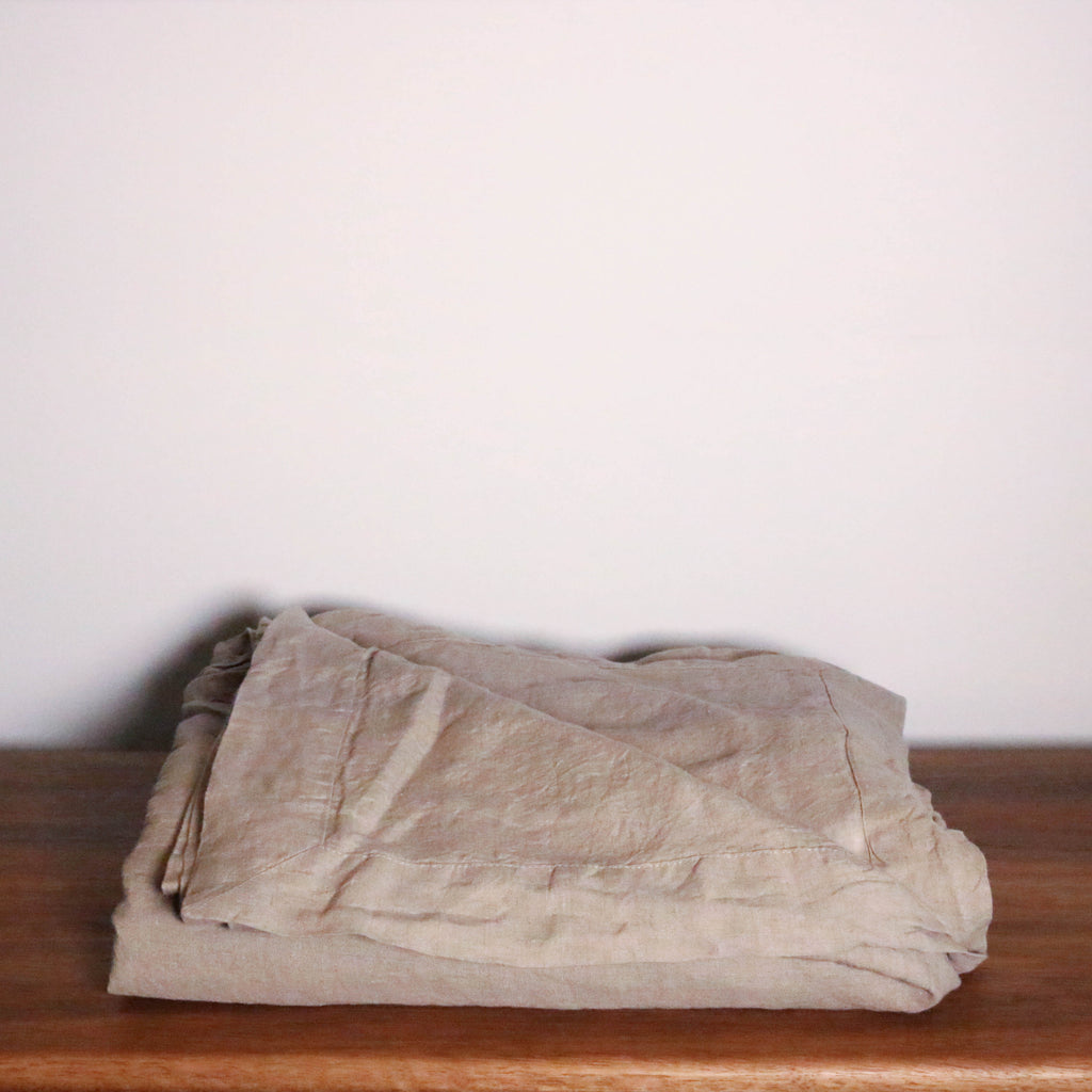 French Linen Bed Throw