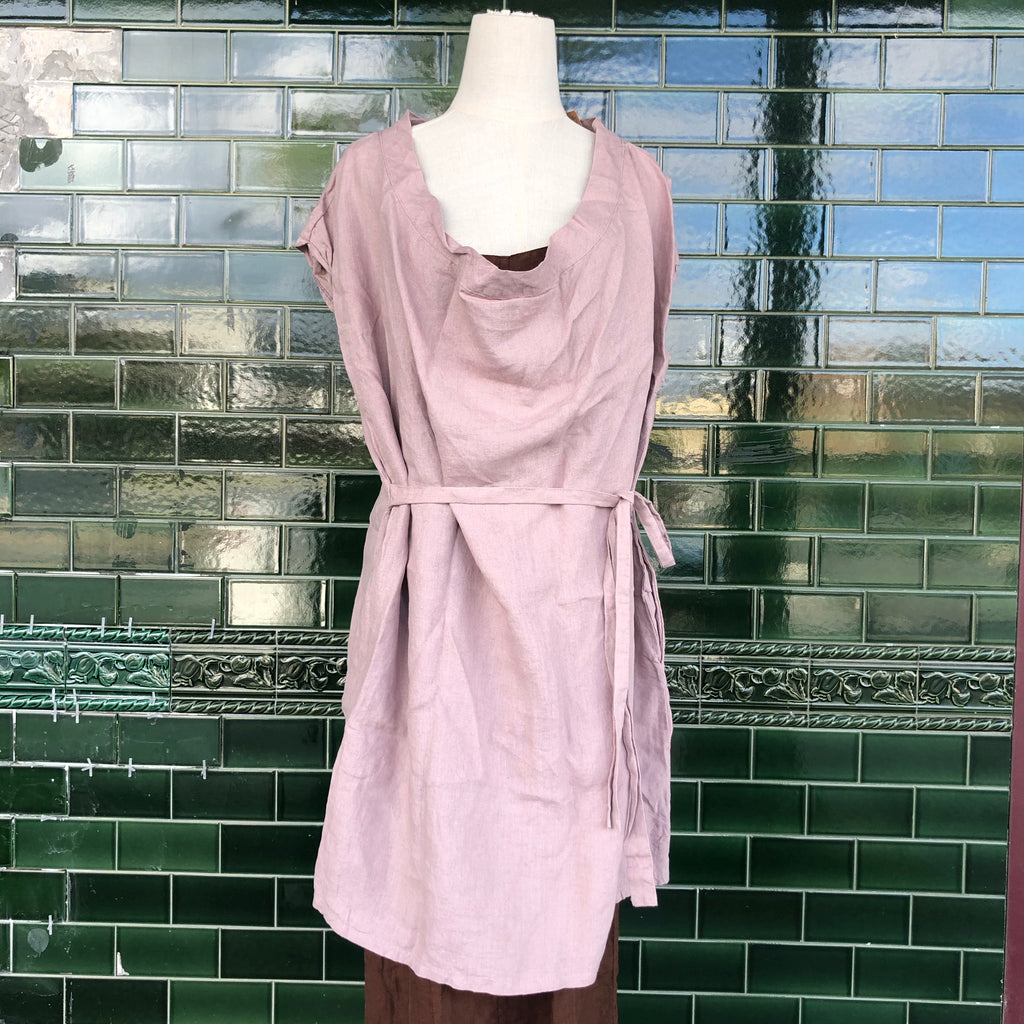 CLEARANCE: French Linen Brooch Tunic