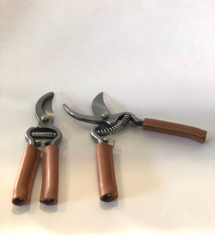 Secateurs with Leather Handles