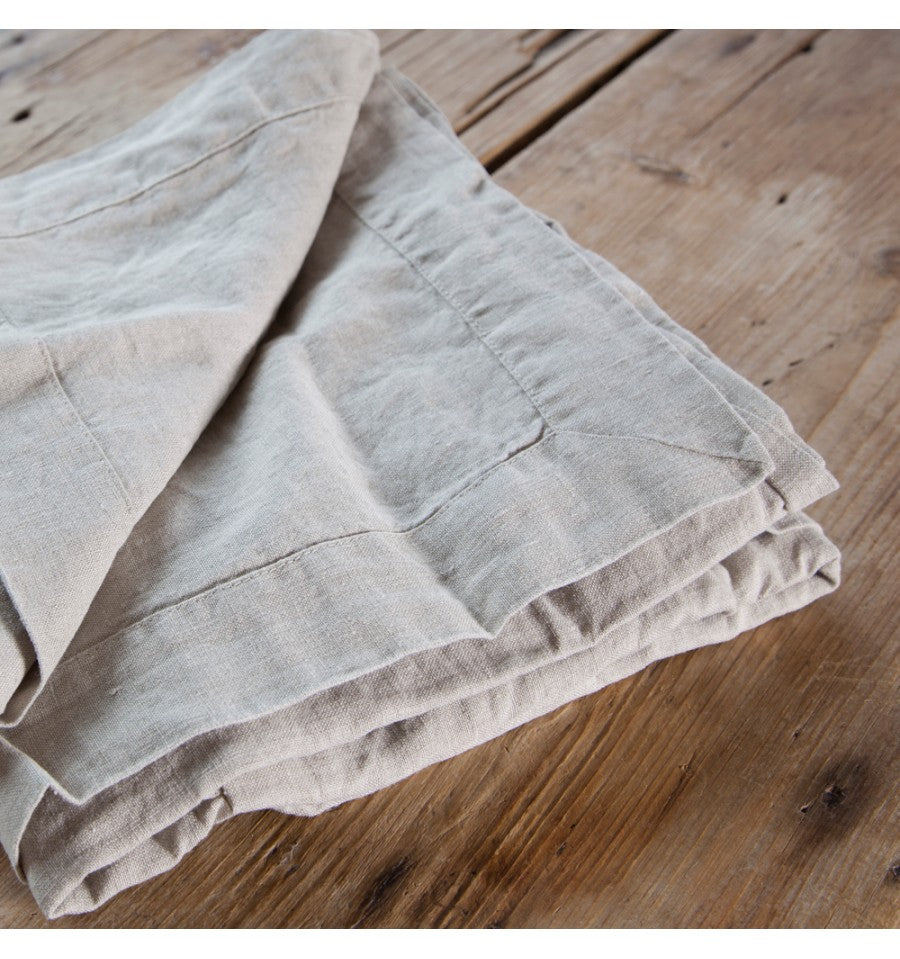 Rustic Irish Linen Bespoke Table Cloth