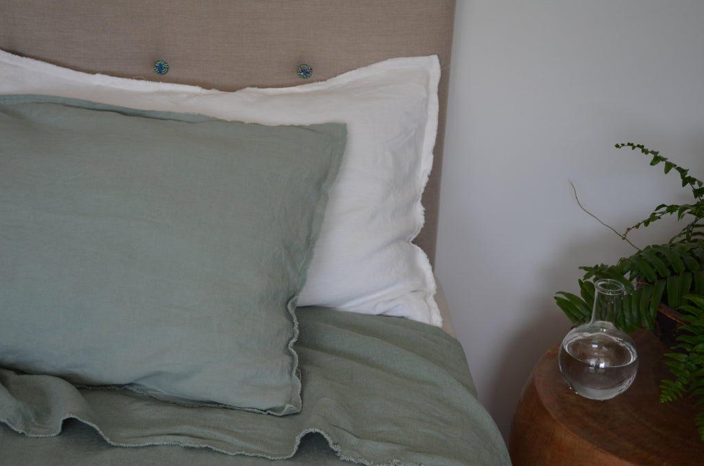 French Linen Pillow Case ( Raw Edge )